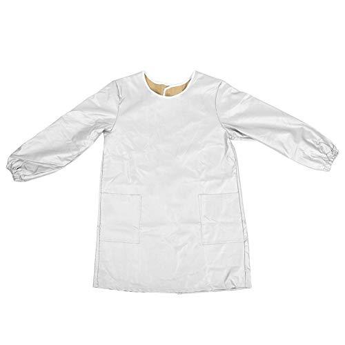 Vikenar Haustierpfleger Kleidung Groomer Arbeitskleidung Haustier Baden wasserdichte Schürze Langarm (Silber L)