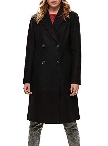 ONLY Damen Wollmantel Louisa Wool Coat 15180329 Black M
