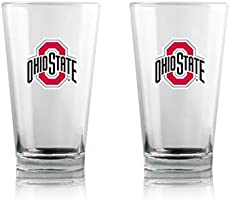 Save on Duck House NCAA Ohio State Buckeyes Clear Highball Pint Glasses | Premium Glassware | Lead-Free | BPA-Free | 16oz...