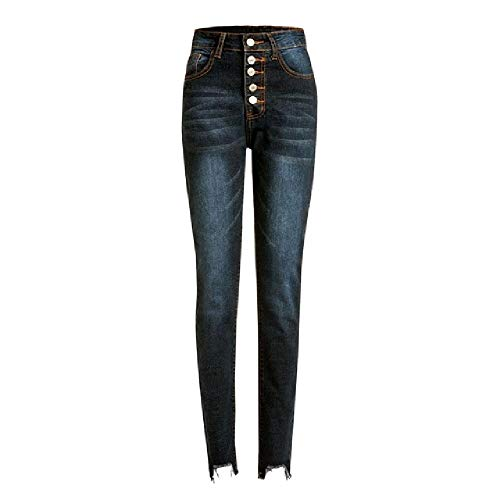 NP Pantalones vaqueros de botón de cintura alta para las mu