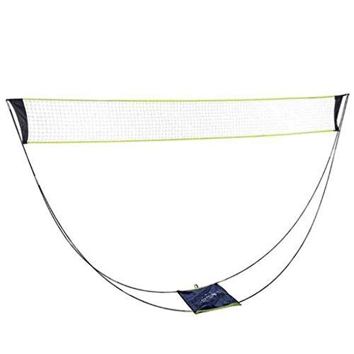 CHWSH Tragbares Badmintonnetz Im Freien Mit Stangen,Abnehmbare Tennisnetze Gestell Einfache Einrichtung Sportnetz Für Außen- / Innenplätze, Keine Werkzeuge Oder Pfähle Erforderlich