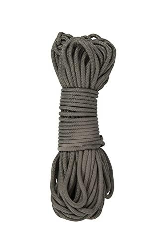 Mountain Warehouse Corde de parachute - longueur de 15m, corde de survie se coupant à n'importe quelle longueur, couleur kaki de camouflage, multi-usages Kaki Taille Unique