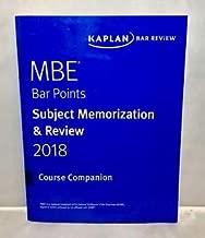 2018 Kaplan MBE Bar Points Subject Memorization & Review