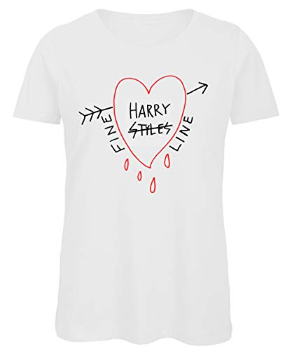 Bughyprint Maglia Maglietta Donna Harry Styles One Direction, S