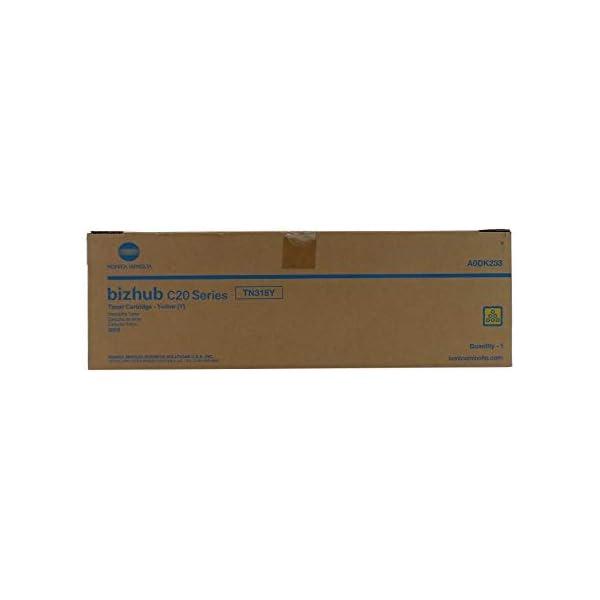 Genuine Konica Minolta TN318Y Yellow Toner Catridge for Bizhub C20