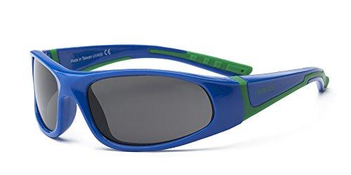 Real Kids Shades Bolt Flex Fit Gafas de sol Bleu royal/vert Talla:Jeune 7+