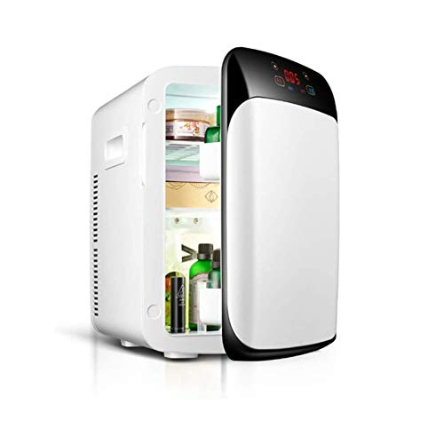 JJSFJH Mini refrigerador de calefacción eléctrica radiador / 15L portátil de Dos Coches refrigerador refrigerador con refrigerador de termostato Digital