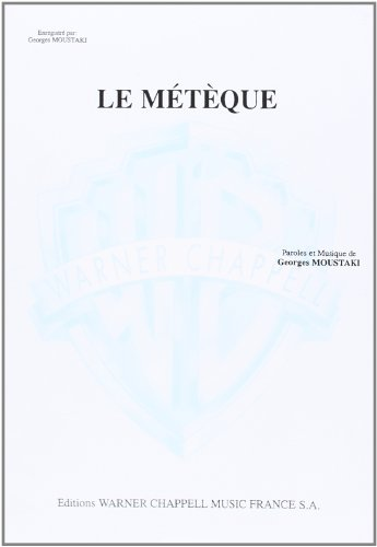 Moustaki Georges Le Meteque Piano Vocal Guitar Book