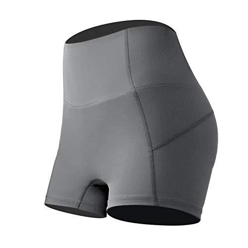 Qinvern Leggings da Donna Pantaloncini Vita Alta Ad Asciugatura Rapida Sollevamento del Sedere Comodo Elastico Yoga Palestra Atletico Tinta Unita L