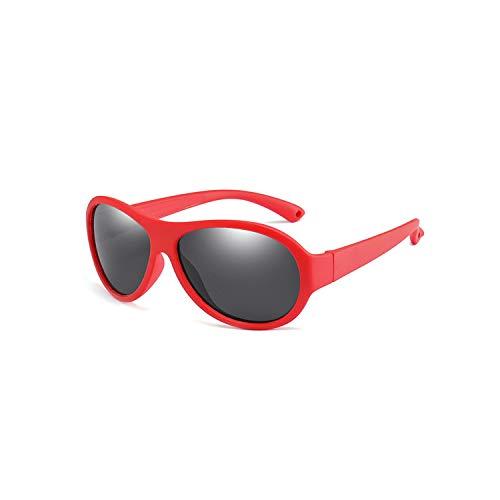 Preisvergleich Produktbild Sportbrillen,  Angeln Golfbrille, Oval Polarisiert Kids Sunglasses Children Silicone TR90 Sun Glasses Girls Boys UV400 Child Goggles Gafas De Sol R02 Color Frame KPR02-C2