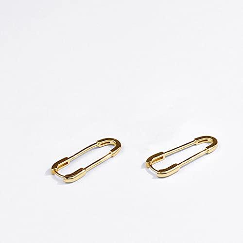 DFDLNL Earings Pendientes en Forma de Clip de Papel navideño para Mujeres Hombres Color Dorado Plateado GoldColor