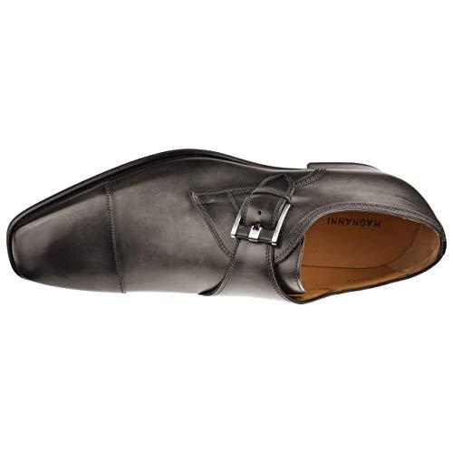 Magnanni Lennon Grey Men's Monk Strap Shoes Size 9.5 US