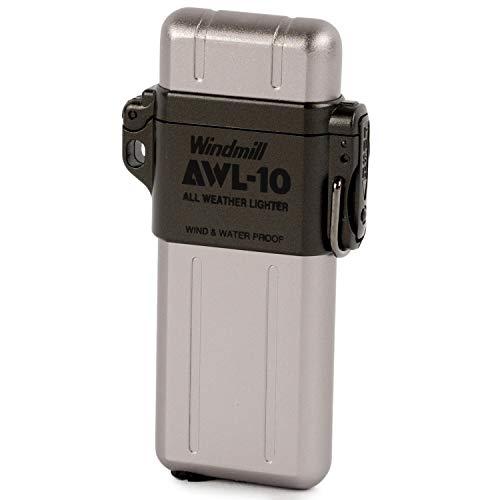 WINDMILL(ウィンドミル) 内燃式ガスライター AWL-10 防水・耐風機能搭載 ガンメタルグレー 307-0002
