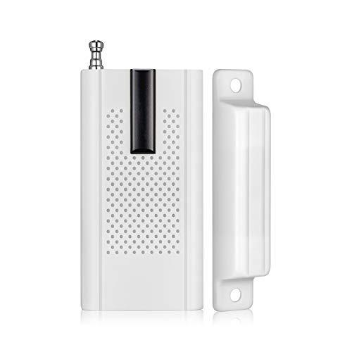KERUI Sensor Alarma de Puerta/Ventana para el Sistema de Alarma Antirrobo KERUI WG11, 433 MHz, Fácil Instalación para la Seguridad de los Niños, Hogar, Tienda, Garaje, Apartamento, Oficina
