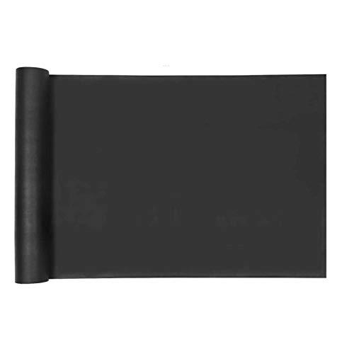 POHOVE - Tela para control de malezas de césped (125 g/m²), color negro