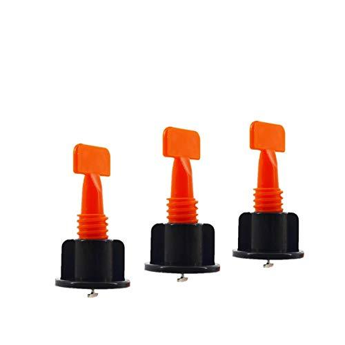 Fliesen-Nivellierungssystem-Kits, 50 Stück, wiederverwendbar, Fliesen-Nivellierer, Abstandshalter zum Bau von Wänden, Böden, mit speziellem Schraubenschlüssel