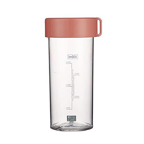 QINDONG Botella de agua deportiva botella de agua potable personalizada botella de agua grande adecuada para jóvenes deportes gimnasio fitness al aire libre Ciclismo escuela oficina rosa 400ml