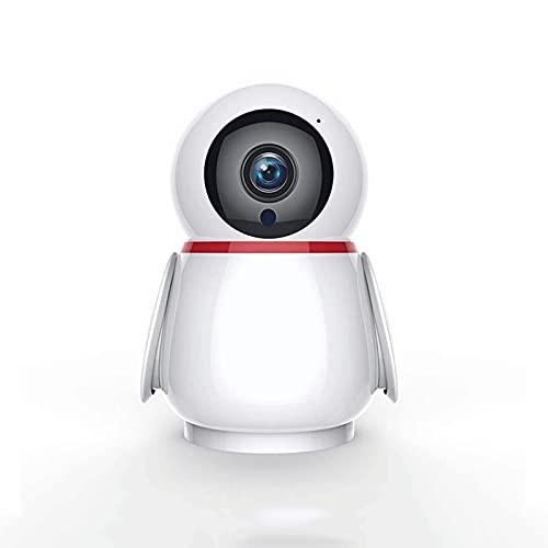 Cámara WLAN, cámara de vigilancia IP 1080P con Audio bidireccional, detección de Movimiento, visión Nocturna y rotación Inteligente, Monitor de Interior for Mascotas ( Size : No SD Card )