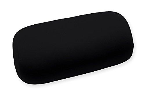 Rollo de cuello Almohada de viaje (aprox. 30x 14cm relleno microperlas bolitas de poliestireno 6colores a elegir, poliéster, negro, ca. 30 x 14 cm