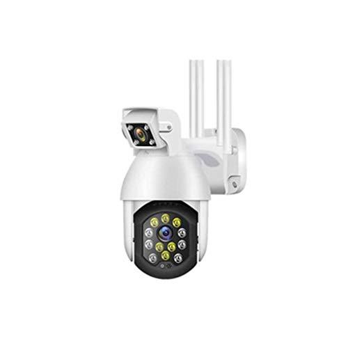 QPALZM Cámara Vigilancia Batería Interior Exterior Inalámbrica,Detección Movimiento humanoide,Alarma luz Sonido,Visión Nocturna 70M,App Acceso Remoto,con Detección Movimiento Audio Bidireccional