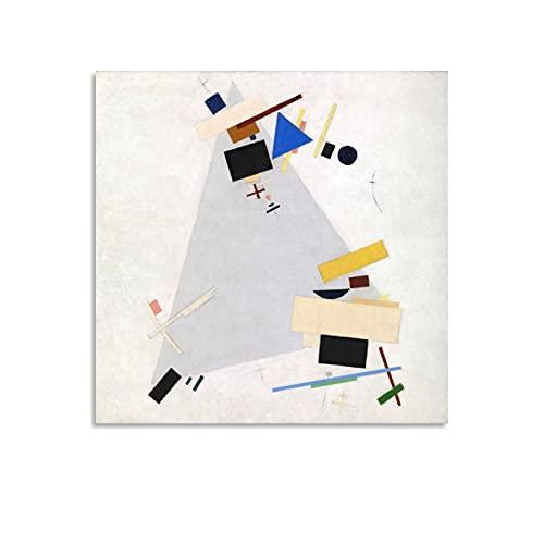 shenjin Póster de arte de suprematismo dinámico de Kazimir Malevich pintor ruso en lienzo y arte de la pared, impresión moderna para dormitorio familiar de 70 x 70 cm