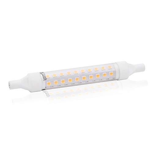 Lumare R7s LED 10W 118mm 230V Leuchtmittel Halogen Flutlicht Fassung ersetzt 75W Baustrahler Lampe Ersatz Halogenstab 3500K neutralweiß