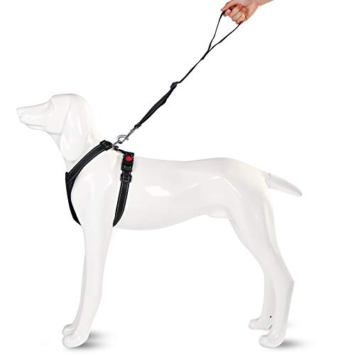 Ownpets Dog Harness, Adjustable XL Size Dog Chest Strap with Hauling Cable, Ideal for Pet Daily Walk, Running, Jogging, Training & Outdoor Activities