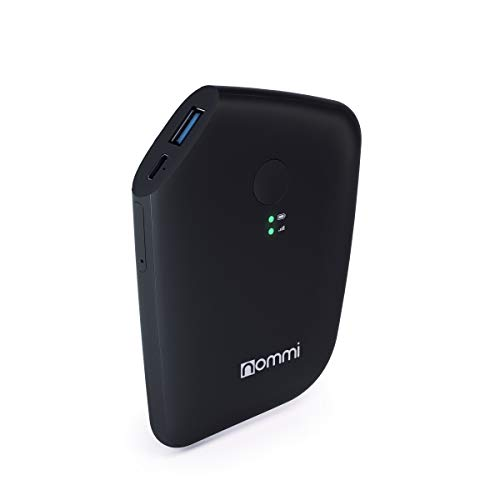 Nommi Slim: Secured 4G LTE Unlocked Hotspot | Global Coverage via eSIM/SIM in 150 Countries | Pay-as-You-go | Roaming-Free | Built-in VPN for Privacy | Power Bank 5600 mAh | Portable | Black