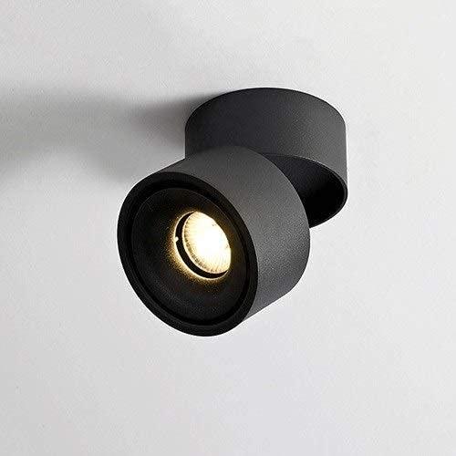 Focos de Pared de 5W Focos empotrables LED Lámparas de Techo para Sala de Estar Luces de Pasillo Bañadores de Pared Ajustable 360 Grados COB Focos Blancos Negros Lámparas Interiores nórdicas