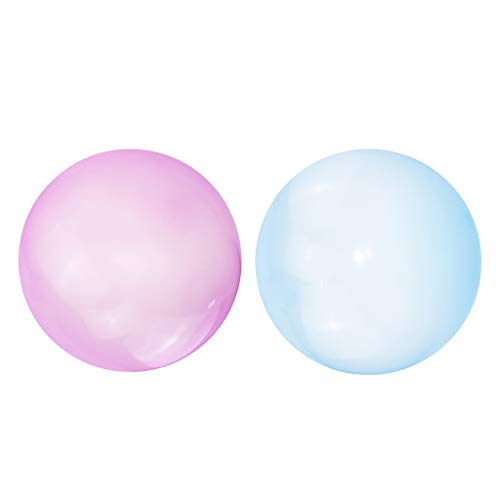 lahomia 2X Bola de Burbujas para Niños, Globo Inflable, Globo de Salto, Juguetes de Playa para