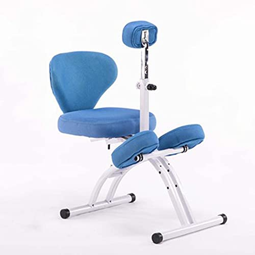 VIVIANSHOP Ergonomische stoel Kinderleerstoel Correctie Zithouding Knielende Stoel Lift Stoel Thuis Anti-gebochelde Bureaustoel Blauw-B