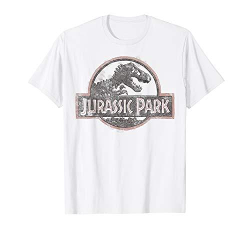 Jurassic Park Classic Distressed Logo T-Shirt