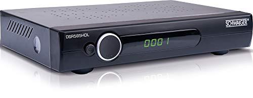 SCHWAIGER -DSR585HDL- Full HD Satellitenreceiver (FTA)   bis zu 5000 Programmspeicher (mit SCART, HDMI, USB 2.0, etc.)