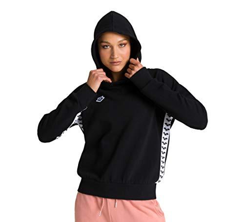 Arena W Hoodie Team Sweatshirt, dames, zwart/wit/zwart, L