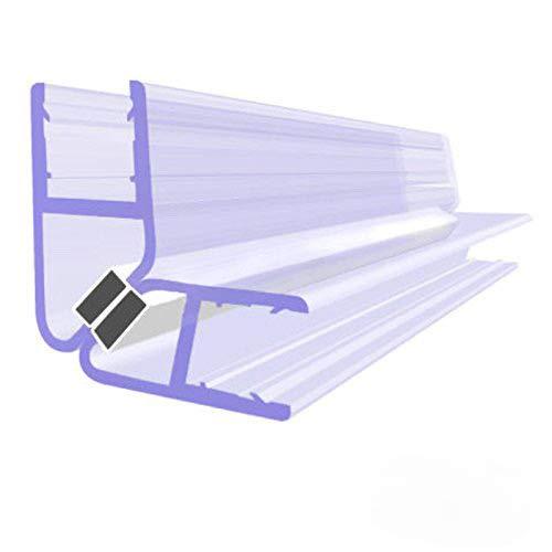 BIJON Magnet-Duschdichtung SET, Duschtürdichtung mit weißen Magneten, Dichtung Dusche Glastür für 90 Grad, 200cm, Glasstärke Duschdichtung 7mm - 8mm