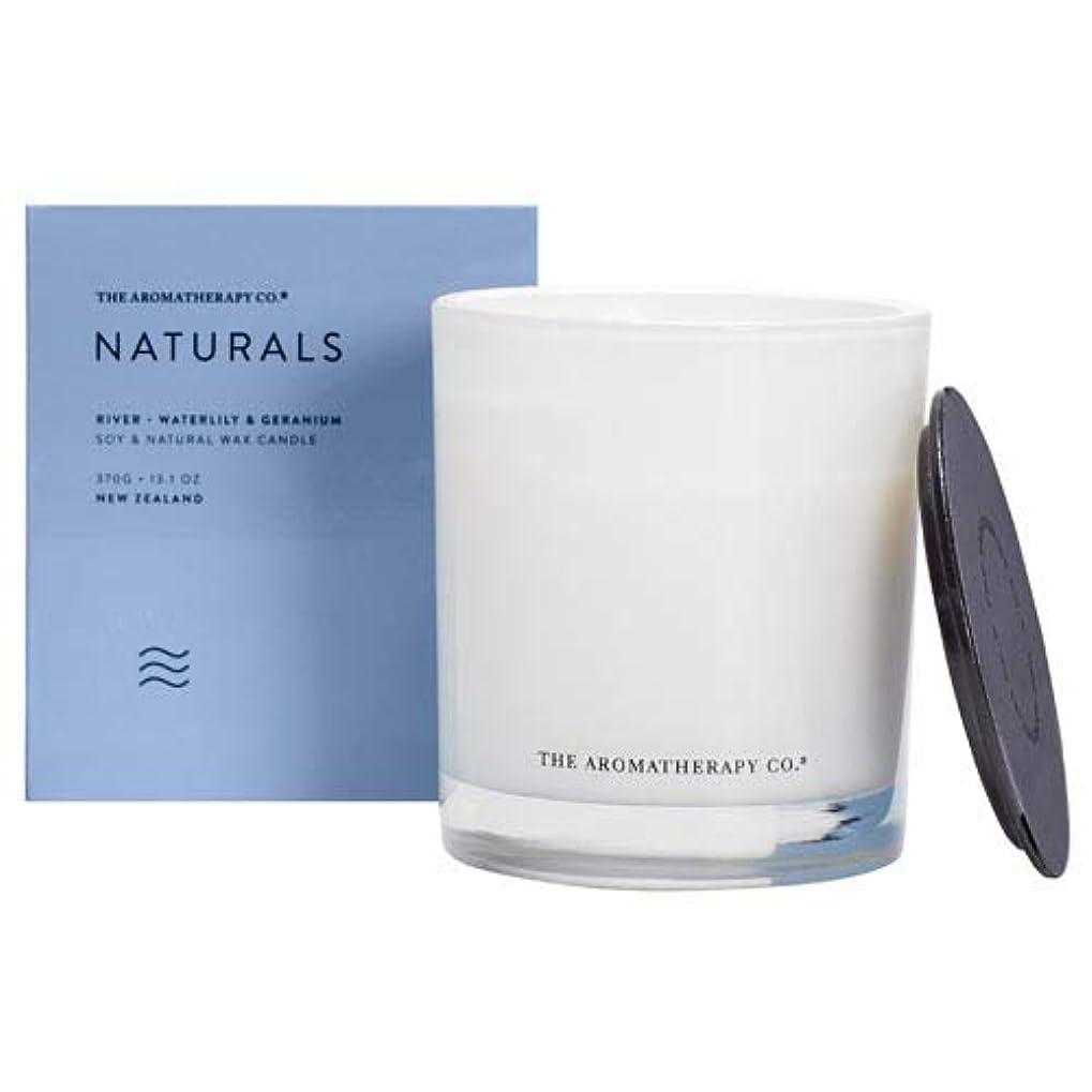 洗練されたせせらぎノイズアロマセラピーカンパニー(Aromatherapy Company) new NATURALS ナチュラルズ Candle キャンドル River リバー(川) Waterlily & Geranium ウォーターリリー&ゼラニウム