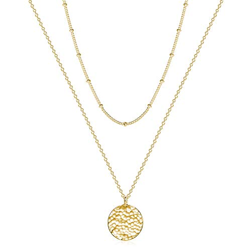Fettero Women Moon Necklace Hammered Coin – $11.04 ( 15% off)