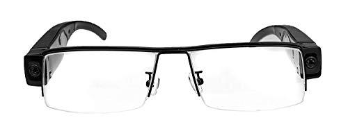 KOBERT GOODS V13 Version 2.0 Versteckte hochauflösende 5 Megapixel Full HD Mini Überwachungs-Kamera in Einer Brille mit Mikrofon Foto Ton und Video-Aufnahmen inklusive Micro-SD und USB-ANSCHLUSS