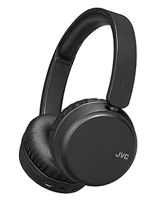 JVC Wireless Bluetooth Foldable Noise Cancelling On Ear Bass Boost Lightweight HA-S65BN Headphones, Black by Jvc