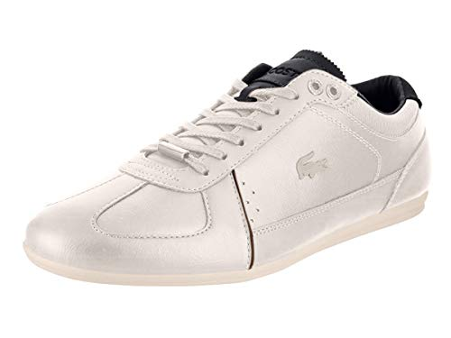 Lacoste Men's Evara 318 2 Leather Classic Low Top Court Sneaker Ivory Size 10