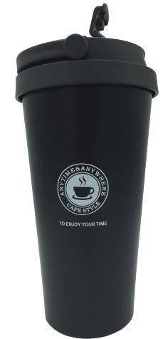 Vaso de Café de aluminio para Llevar con Tapa antigoteo, Reutilizable, infusiones...