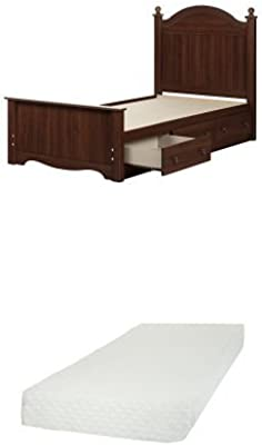 South Shore Savannah Twin Bed Set with 3 Drawers (39), Royal