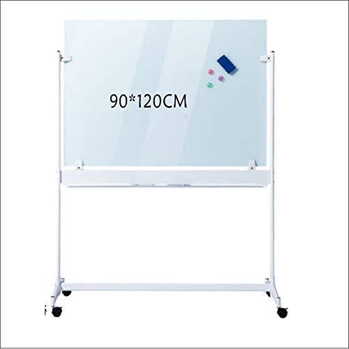 Tableau Blanc Portable magnétique mobile Board Board Dry Erase Bureau blanc + 10 Stylos effaçables 1 Gommes Tableau noir 3 Buckles magnétique Tableau effaçable ( Couleur : Blanc , Taille : 90x120cm )