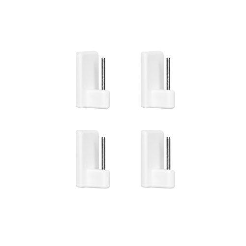 Lichtblick KH.04.01 Klebehaken für Vitragestange 4 Stück, Weiß