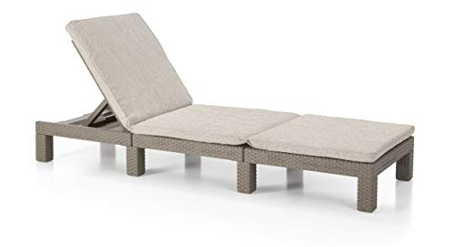 Allibert Daytona SL zonneligstoel, cappuccino/zand (poly cotton cushion)