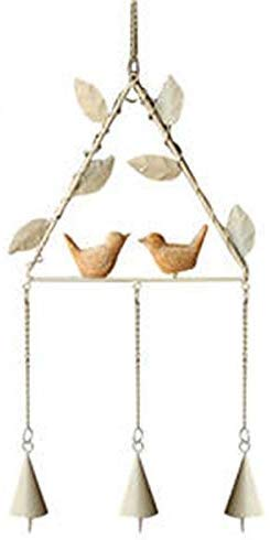 HIGHKAS Hausgarten Hängende Dekorationen Kleine Windspiel Hängende Dekor Japanischen Stil Anhänger für Hausgarten Outdoor Indoor Wohnaccessoires (Farbe: Weiß, Größe: Dreieck)