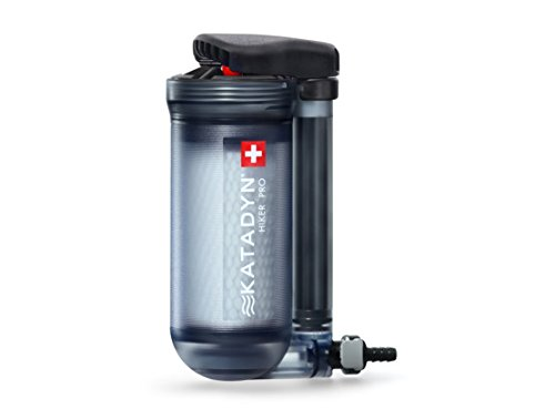 Katadyn Hiker Pro Transparent Water Filter, Long Lasting for Personal or Small Group Camping, Backpacking or Emergency Preparedness Portable Micro Filter