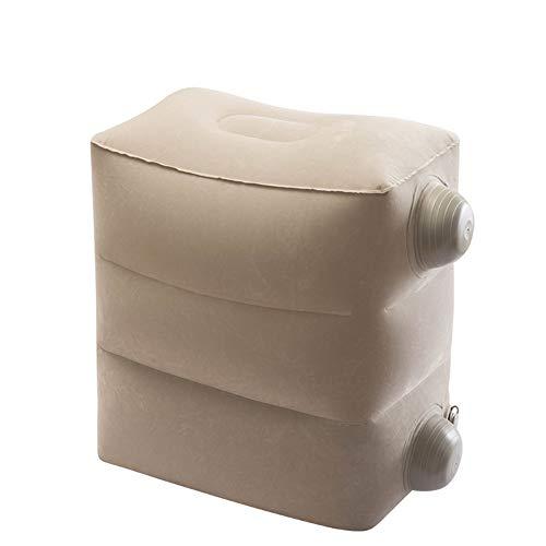 WLL Tragbares aufblasbares Reise-Fußstützen-Kissen mit Staubschutzhülle, umweltfreundlich, gesund, geeignet für Familien, Hotels und Studentenwohnheime