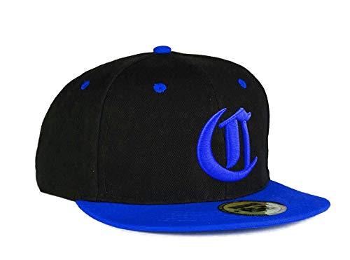 Casquette de Baseball Snapback Bonnet Cap Chapeau Snap Back 3D Gothique C Hip-Hop Unisexe (C Got Blue Blue)