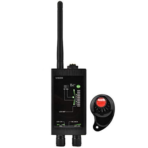 banapoy Antidetector de Radio de Alta sensibilidad de detección inalámbrica, Detector de Radio M8000, de Alta Velocidad para Detector Exterior(100-240 European Standard)